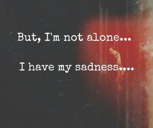 alone, quote, and sadness image