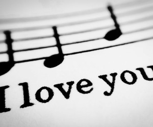 love, music, and I Love You image