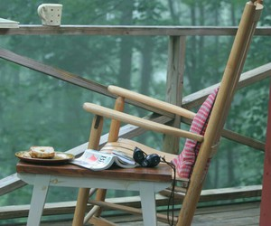 book, nature, and relax image