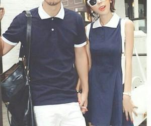 couple, korean fashion, and couple fashion image