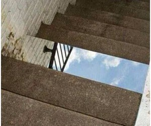 mirror, stairs, and funny image