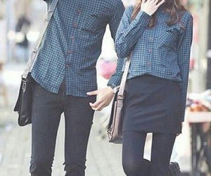 blouse, couple, and korean fashion image