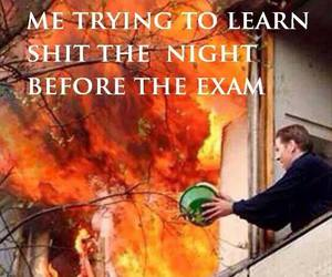 exam, fire, and fun image