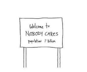 quotes, nobody cares, and welcome image