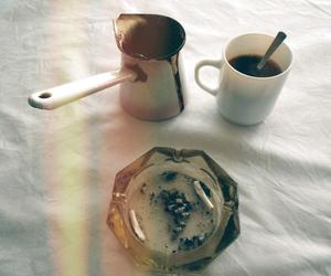 photo, dark coffee, and cigarettes image