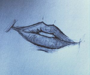 draw, lips, and follow image