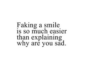 sad, fake, and smile image