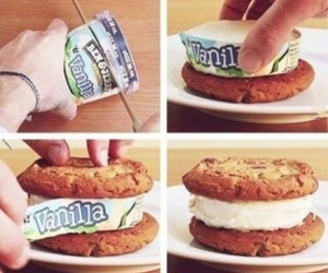 food, ice cream, and cookie image