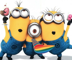 minions, party, and yellow image