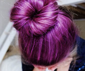 bright, bun, and hair image