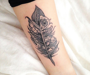 feather tattoo and tattoo image