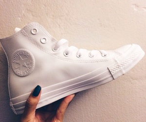 converse, white, and sneakers image