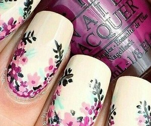 floral, nail art, and style image
