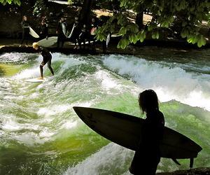 surf, summer, and surfer image