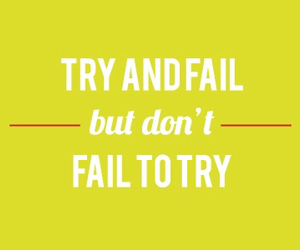 quote, motivation, and try image