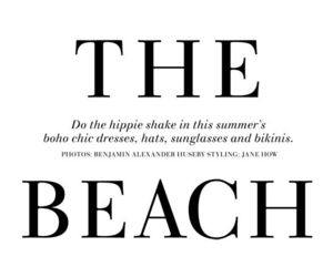 beach, summer, and text image