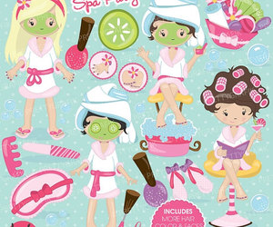 clipart, spa, and spa party image