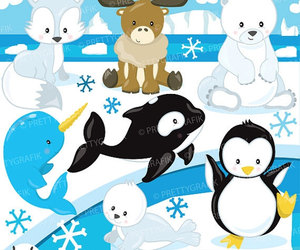 clipart, moose, and penguin image