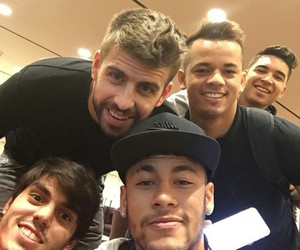pique, neymar, and neymar jr image