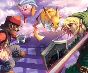 bros, kirby, and link image