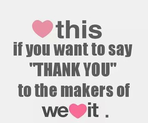 thank you, we heart it, and thanks image