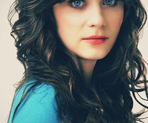 zooey deschanel, eyes, and blue eyes image