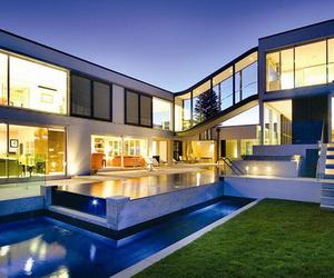 house, modern, and pool image