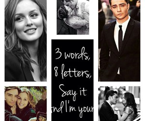 chuck and blair, gg, and gossip girl image