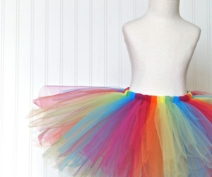 colorful, rainbow, and tutu image