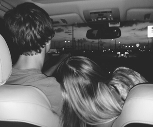 black and white, boyfriend, and car image