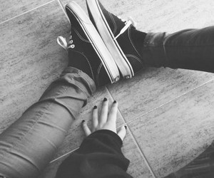 vans, shoes, and nails image
