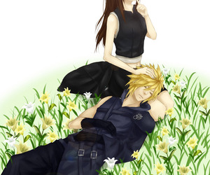 final fantasy VII and tifa and cloud image