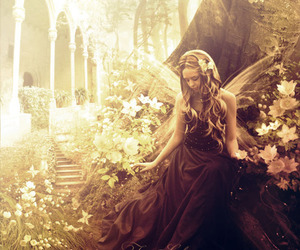 fairy, flowers, and fantasy image
