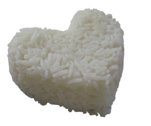 heart, pale, and rice image