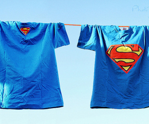 superman, t-shirt, and blue image