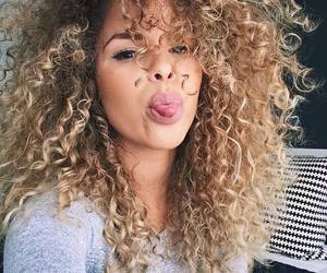 hair, girl, and curly image