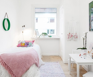 apartment, white, and bedroom image