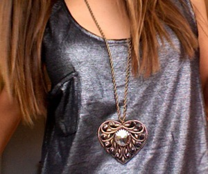 fashion, heart, and necklace image