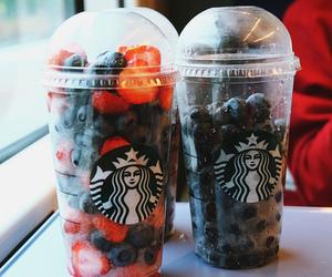 starbucks, food, and fruit image