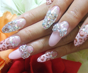 nails, pink, and japanese style image