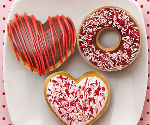 donuts, heart, and food image