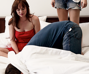 dakota johnson, Jamie Dornan, and fifty shades of grey image