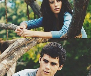 dylan o'brien, KAYA SCODELARIO, and thomas image