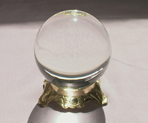crystal, crystal ball, and light image