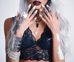 tattoo, hair, and nails image