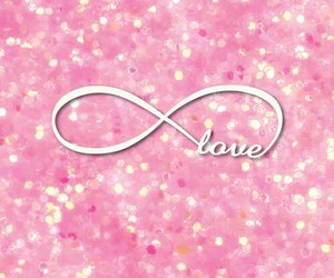 infinity, pink, and love image