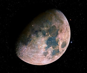 moon, stars, and space image