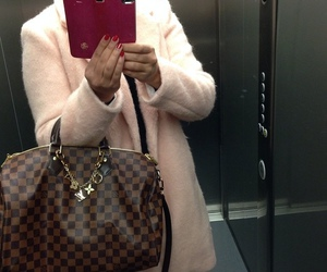 iphone, Louis Vuitton, and selfie image