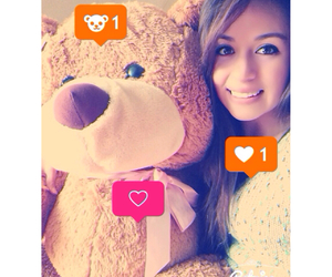 bear, girl, and love image