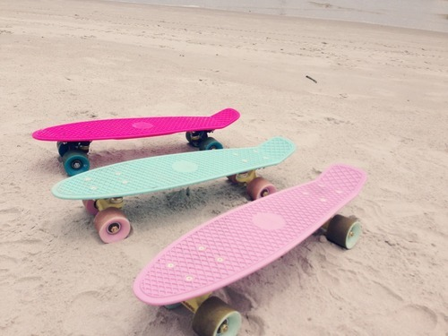 beach, hot pink, and pastel image
